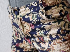 Shorts/Hot Pants, Paisley-Muster, S/M, leicht High-Waist