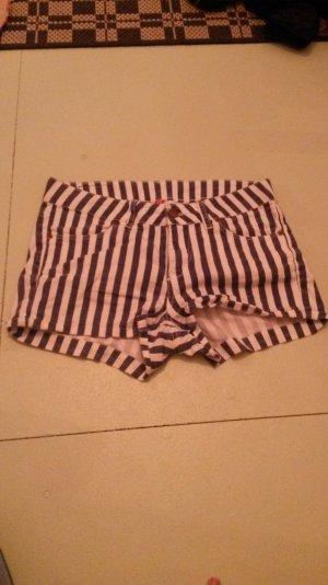 shorts hotpants gestreift navy gr. 36