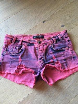 Shorts Hotpants Jeansshorts kurze Hose Denim pink Gr. S