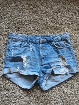 H&M Pantaloncino di jeans bianco-azzurro