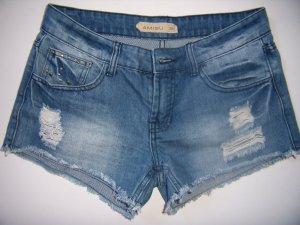 Amisu Shorts blu pallido-grigio ardesia Cotone