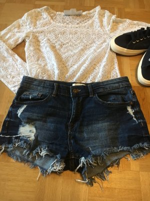 Shorts Jeans ausgefranster Saum #hotpants #sommer #festival #shorts #jeans