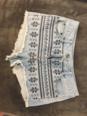 Denim Shorts baby blue-black