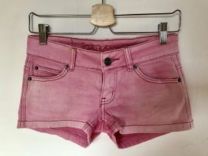 Shorts Jeans Farbe:pink im Useted-Look