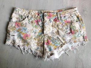 Pull & Bear Pantaloncino di jeans multicolore