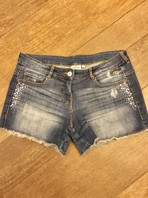 Shorts Jeans Kurz Hot pants mit Steinen Tom Tailor kurze Hose