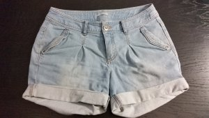 3 Suisses Denim Shorts azure cotton
