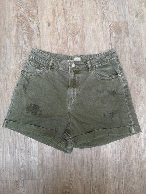 Shorts jeansshorts Pimkie 36 Grün Khaki High Waist