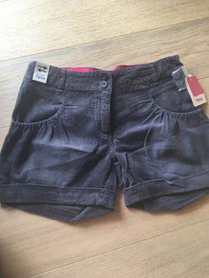 Shorts kurze Hose Hotpants Cordhose grau NEU