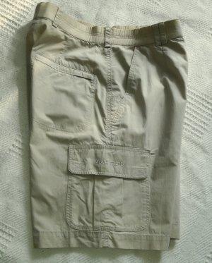 Pantaloncino a vita alta beige Tessuto misto