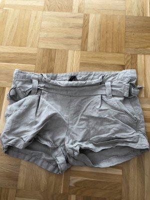 Shorts, Leinen, Gr. 38, Topshop, beige