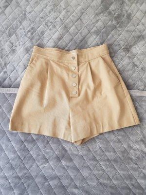 Mango High-Waist-Shorts beige