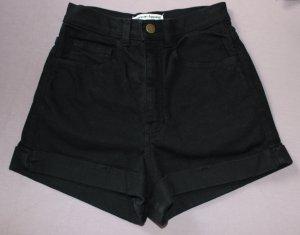 American Apparel Pantalón corto de tela vaquera negro