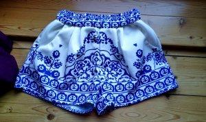 shorts mit porzellanmuster