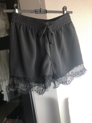 Shorts mit Spitze, schwarz, Noisy May