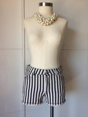 H&M Short donkergrijs-wit