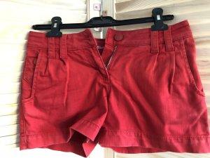 Hallhuber Denim Shorts red