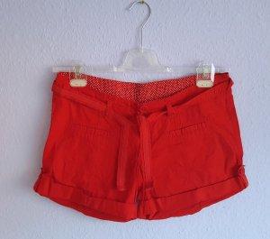 Shorts Rot Gürtel Madonna Gr. M