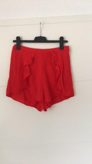 Shorts Rüschen rot