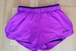 Nike Pantaloncino sport viola-nero