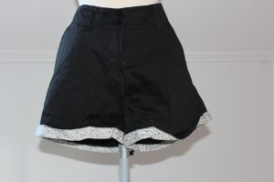 Short zwart-wit Katoen