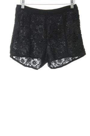 Shorts schwarz Romantik-Look