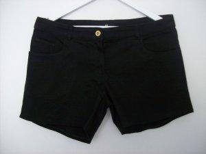 H&M Pantalón corto de tela vaquera negro tejido mezclado