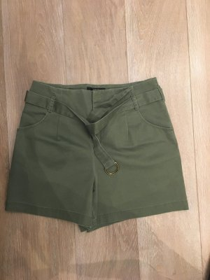 Set Pantalon court gris vert