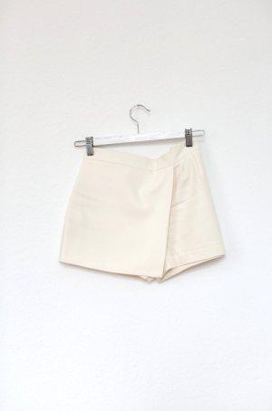 Shorts Skorts Origami Zara weiß Nude Mini Gr. S mit Zipper Blogger