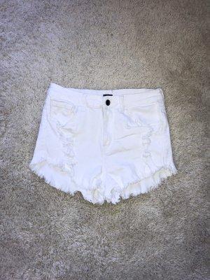 Brandy & Melville Short taille haute blanc