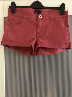 H&M Denim Shorts bright red