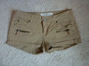 Shorts von H&M, beige, Größe 38