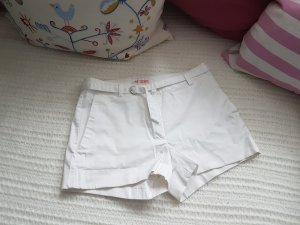 Shorts, von H&M + Gürtel, Größe 36/S, weiß
