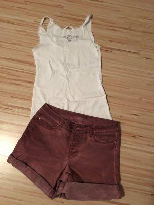 Takko High-Waist-Shorts brown red-carmine