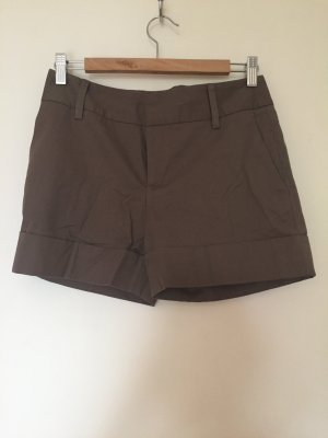 Zara Basic Pantalone corto marrone chiaro-marrone