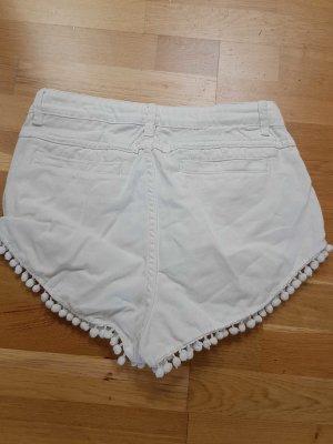 Shorts weiss 40 Primark Bommel Boho