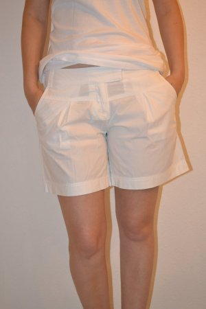 Shorts weiß Bundfalten