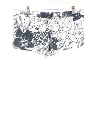 Shorts weiß-dunkelblau florales Muster Beach-Look