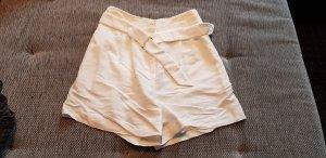 H&M High-Waist-Shorts white