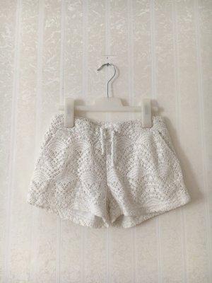 Shorts Weiß mit Spitze