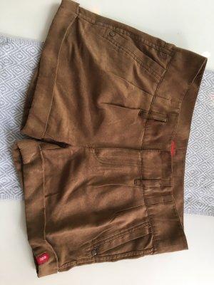 Shorts Wildlederoptik