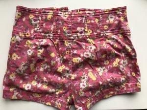 Shorts Zara Gr 38 Pink Blumen Print