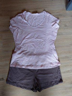 Jolinesse Pijama rosa claro-marrón
