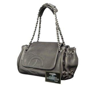 Chanel Sac à main gris cuir