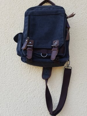 Canvas Bag anthracite-brown