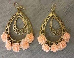 ShuShum Vintage Statment Ohrringe Nude Roses Handmade Piece of Art