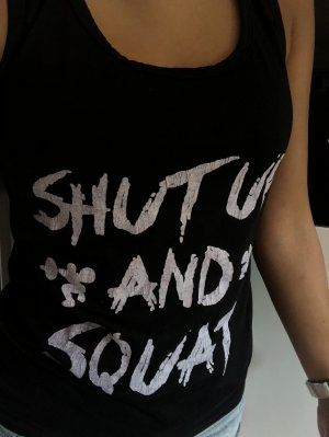 shut up and... Top | Sporttop - washed