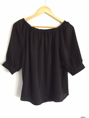 Shwarze off-shoulder Bluse