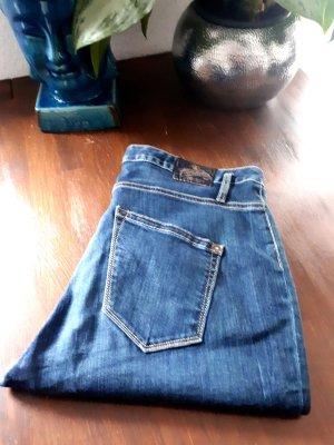 Herrlicher Jeans boyfriend blu scuro Tessuto misto