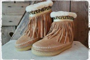 Bottes de neige brun sable-marron clair